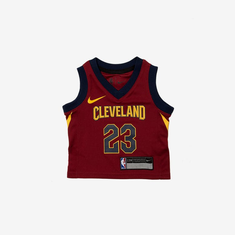 928b563ef INFANT LEBRON JAMES  23 CLEVELAND CAVALIERS NIKE REPLICA JERSEY ICON E –  Culture Kings
