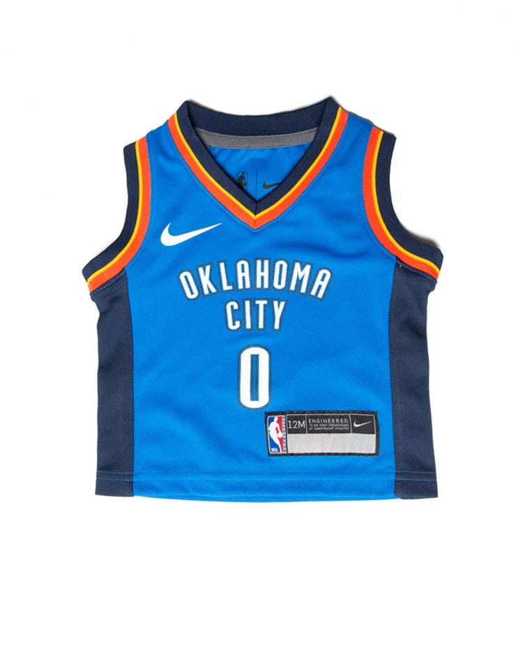 check out d6eb6 1c318 Nike Russell Westbrook #0 Oklahoma City Thunder Nike Replica Jersey Icon  Edition Blue