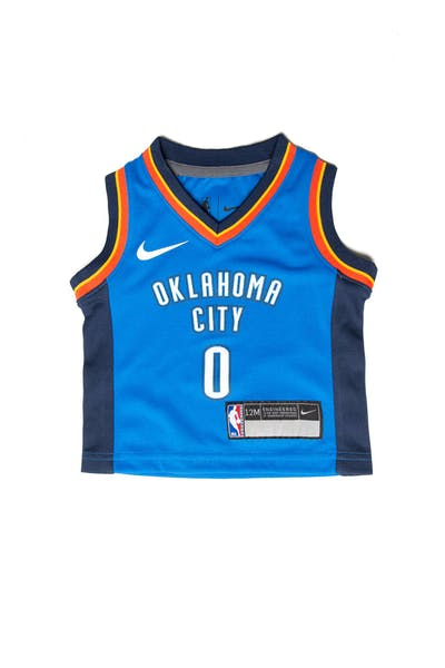 Nike Russell Westbrook #0 Oklahoma City Thunder Nike Replica Jersey Icon Edition Blue