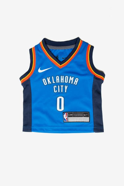 Nike Russell Westbrook  0 Oklahoma City Thunder Nike Replica Jersey Icon  Edition Blue 3a430d7f6
