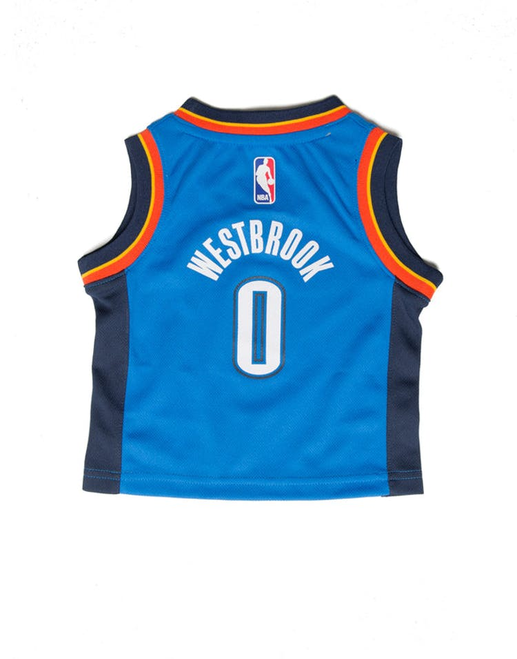 outlet store dde61 3622f Nike Russell Westbrook  0 Oklahoma City Thunder Nike Replica Jersey Icon  Edition Blue