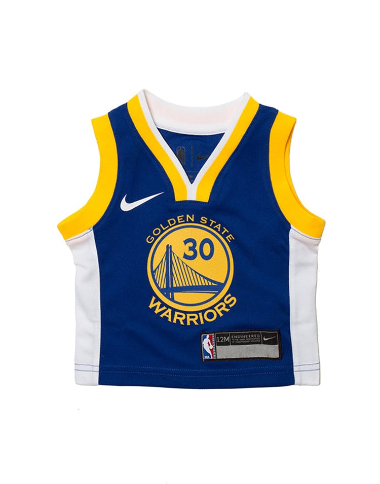 sale retailer d4fe6 6ed2c INFANT STEPHEN CURRY #30 GOLDEN STATE WARRIORS NIKE REPLICA JERSEY ICON  EDITION BLUE