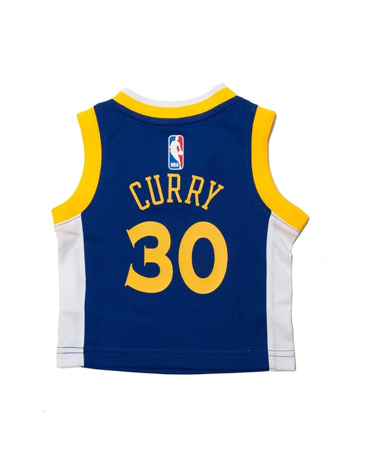 sale retailer 3e4a8 9dddc INFANT STEPHEN CURRY #30 GOLDEN STATE WARRIORS NIKE REPLICA JERSEY ICON  EDITION BLUE