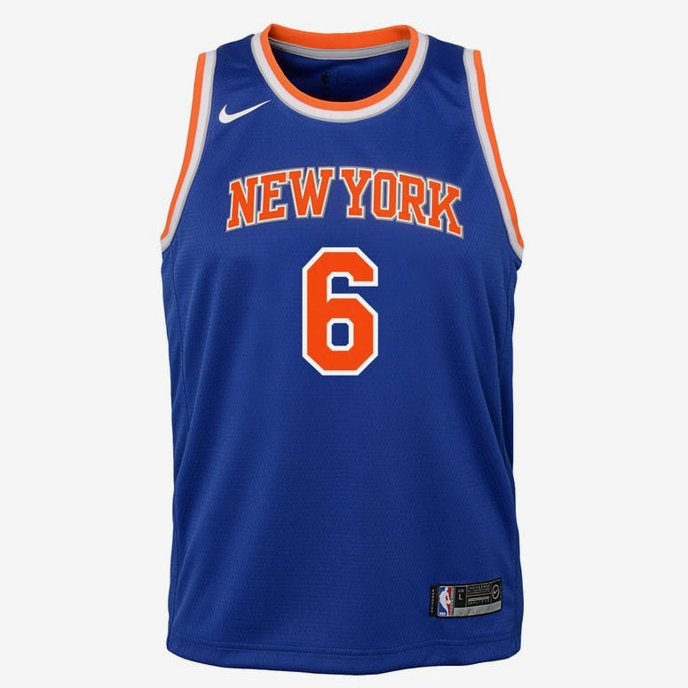 Nike Kids New York Knicks Kristaps Porziņģis  6 Icon Swingman NBA Jers –  Culture Kings cff6fe877
