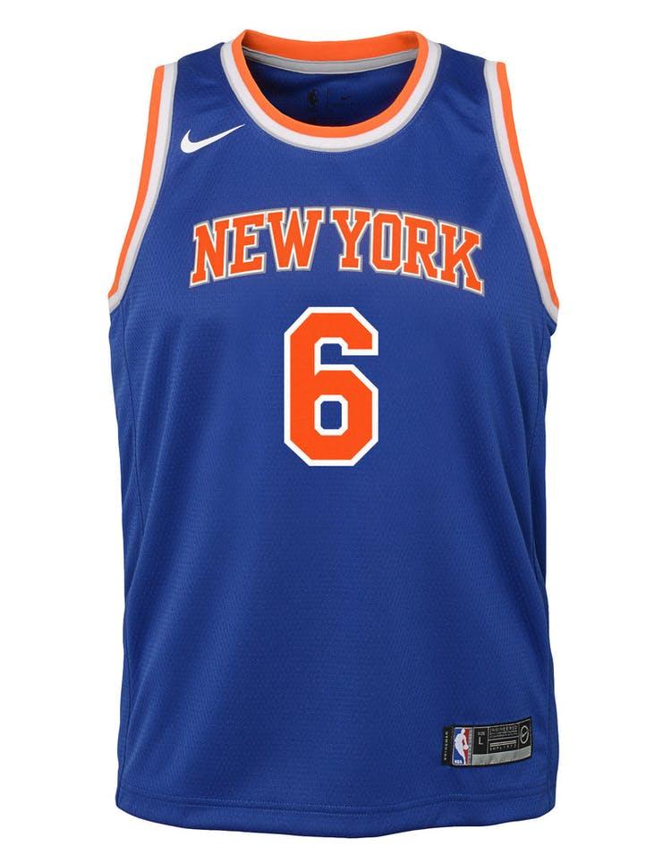 brand new 92862 e339e Nike Kids New York Knicks Kristaps Porziņģis #6 Icon Swingman NBA Jersey  Royal