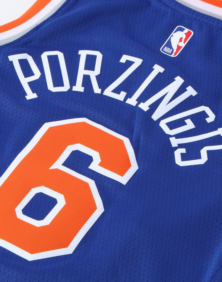 Nike Kids New York Knicks Kristaps Porziņģis #6 Icon Swingman NBA Jersey Royal