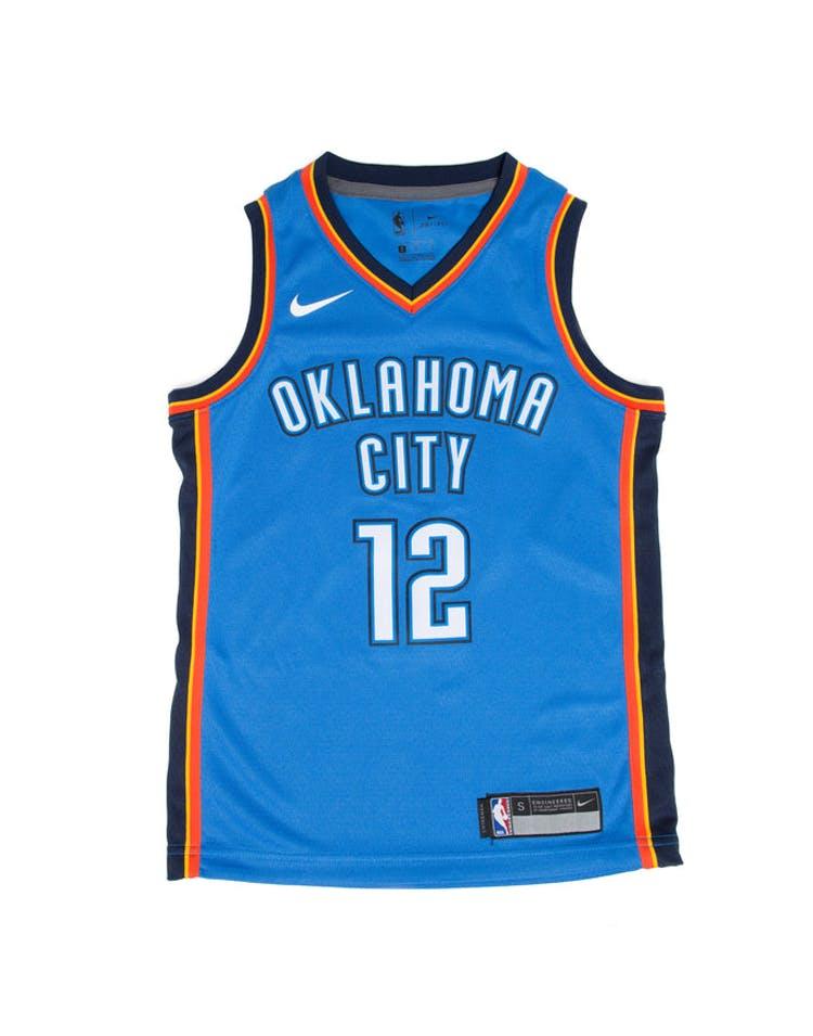 best website 4c5a7 32d2d Steven Adams #12 Nike Icon Edition Youth Swingman Jersey Blue