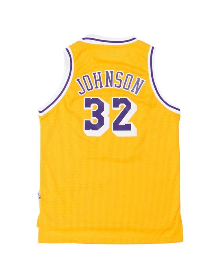 600dcad58f2 Youth Los Angeles Lakers Magic Johnson Hardwood Classics Swingman Jersey  Gold