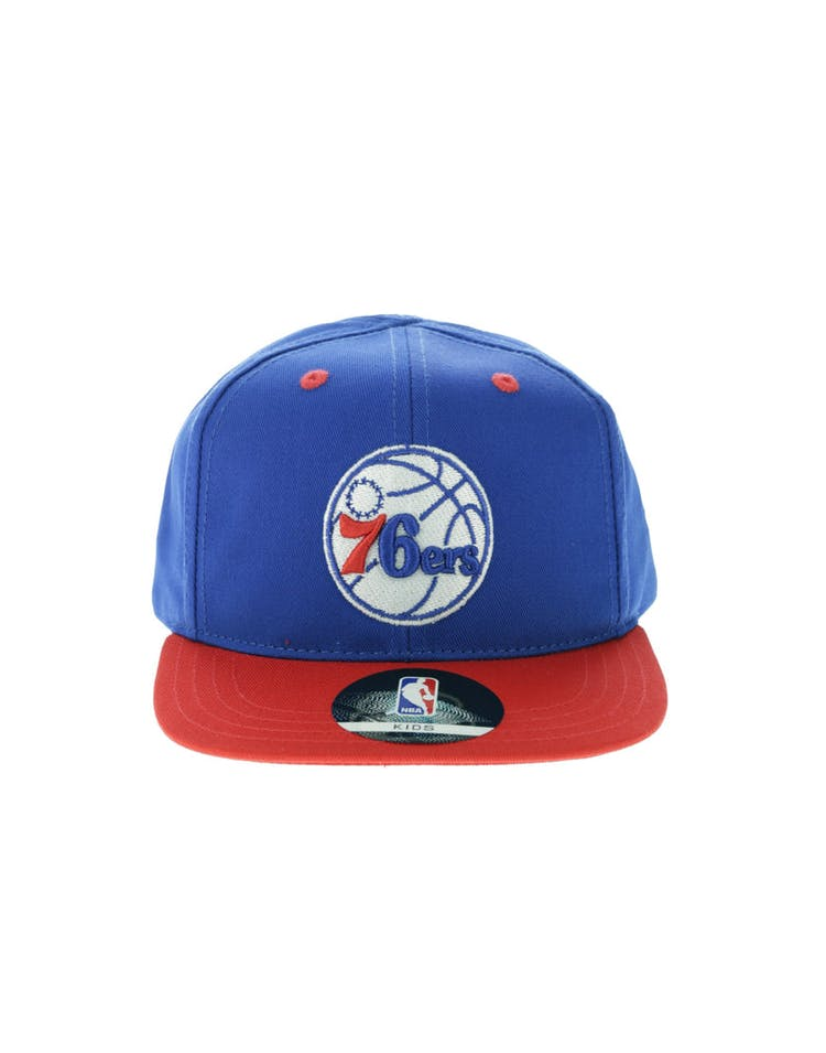 dbb3753d82ddf NBA Philadelphia 76ers 2-Tone Flat Brim Kids Snapback Blue Red – Culture  Kings