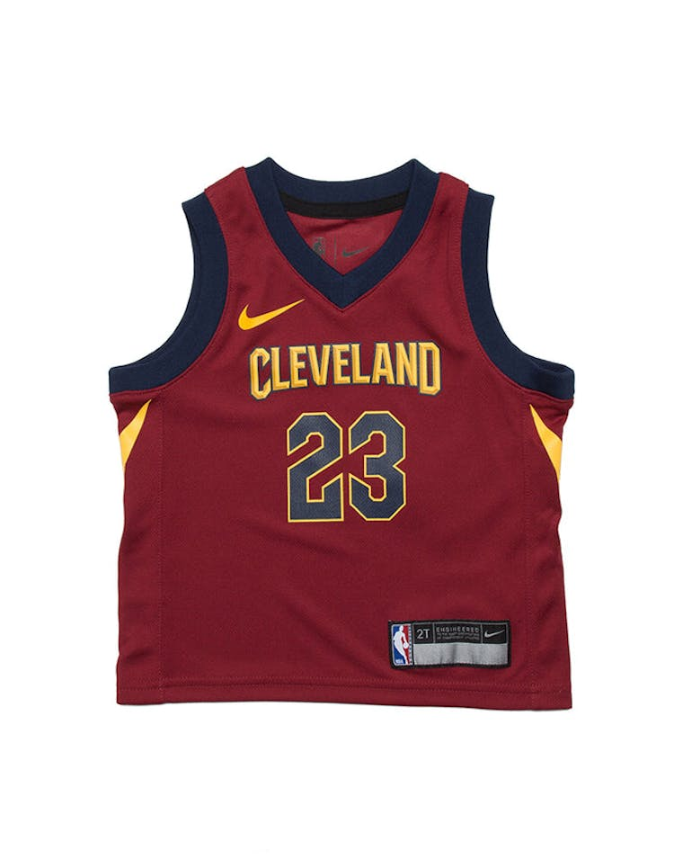 newest 1c4f7 d4d9d Toddler LeBron James #23 Cleveland Cavaliers Nike Replica Jersey Icon  Edition Burgundy