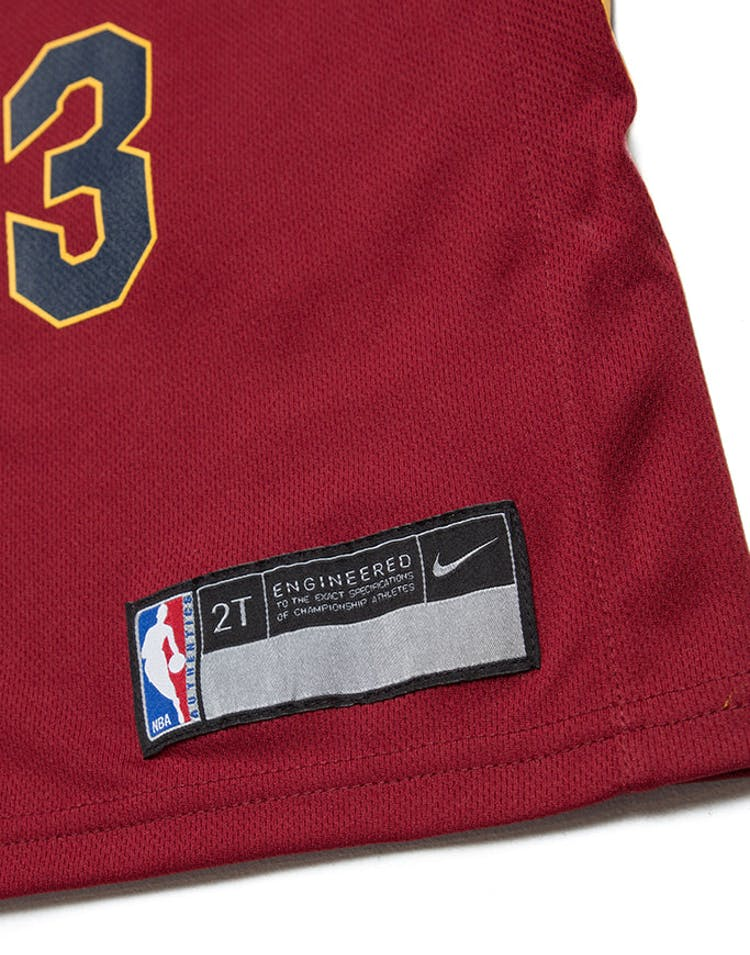 90a93f1fb Toddler LeBron James  23 Cleveland Cavaliers Nike Replica Jersey Icon  Edition Burgundy