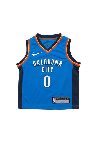 Toddler Russell Westbrook #0 Oklahoma City Thunder Nike Replica Jersey Icon Edition Blue