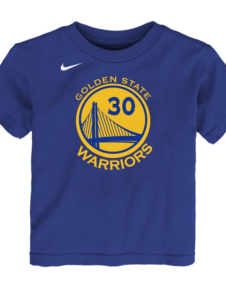 c05c8bc13952 Nike Toddler Golden State Warriors Stephen Curry  30 Icon N N Tee Blue –  Culture Kings