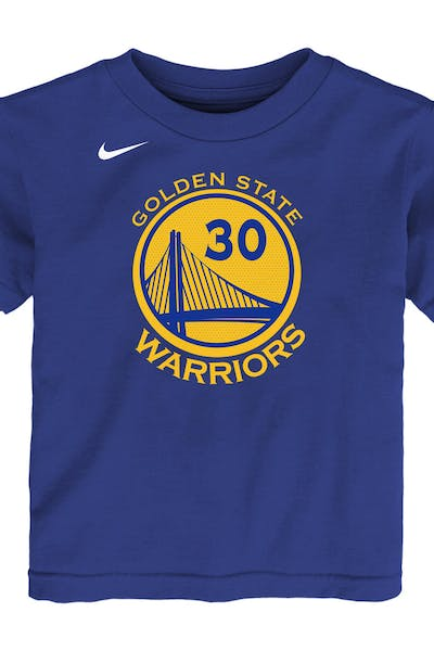 85ec1105 Nike Toddler Golden State Warriors Stephen Curry #30 Icon N&N Tee Blue