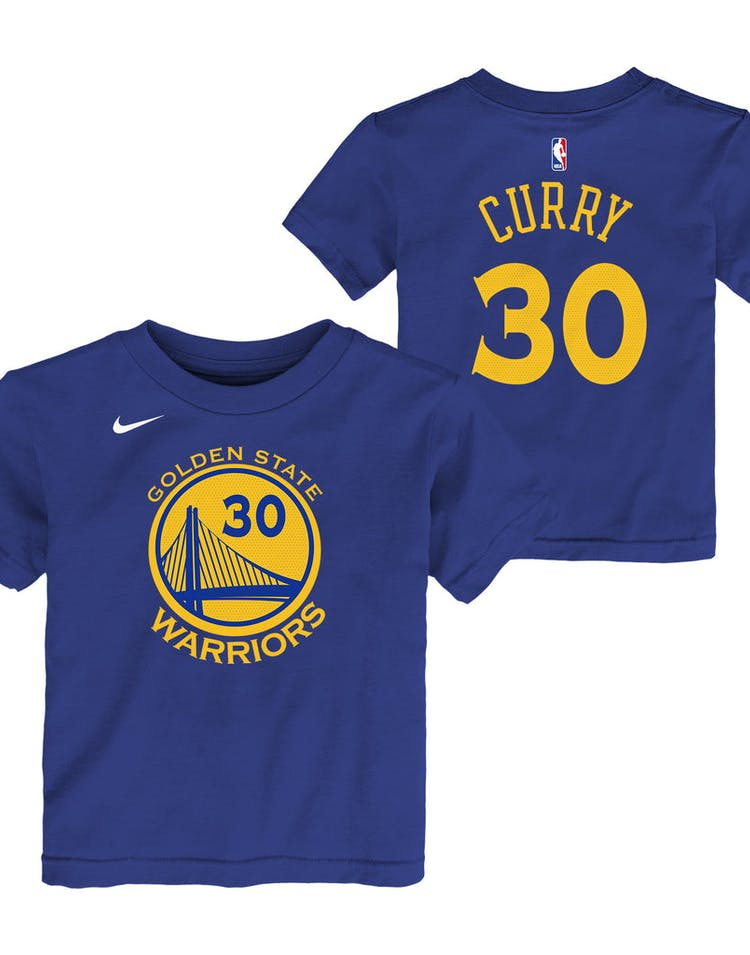 timeless design 320a3 8bb33 Nike Toddler Golden State Warriors Stephen Curry #30 Icon N&N Tee Blue