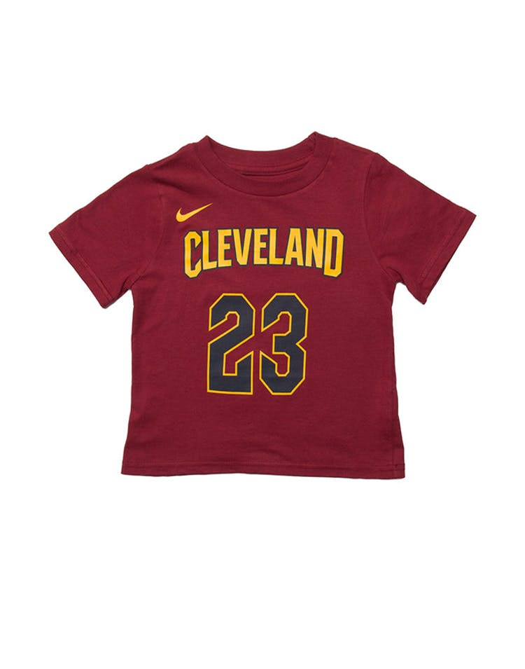 60683f74a Toddler LeBron James  23 Cleveland Cavaliers Nike Icon N N Tee Burgund – Culture  Kings