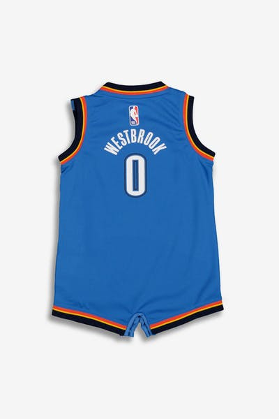 b53676aa00b8 Nike Infant Oklahoma City Thunder Russell Westbrook  0 Replica Onesie NBA  Jersey Royal