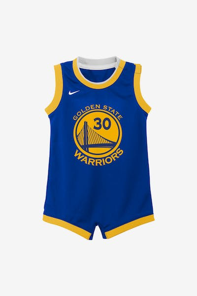Nike Infant Golden State Warriors Stephen Curry #30 Replica Onesie NBA Jersey Royal