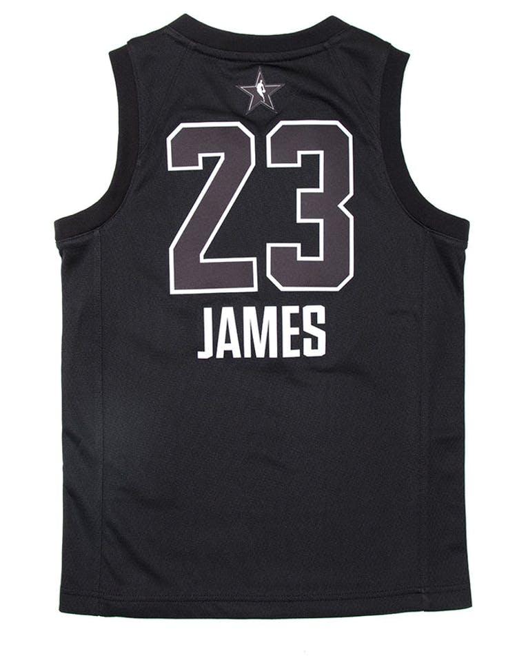 wholesale dealer 57a84 49be8 Nike LeBron James #23 All-Star Kids Jersey Black