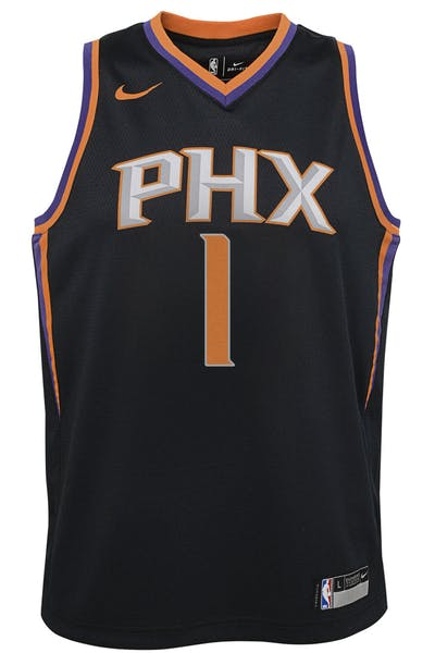 8ee302d3fab Nike Kids Phoenix Suns Devin Booker #1 Statement Swingman NBA Jersey Black