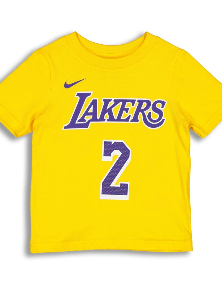 953760a0fa9 Nike Toddlers Los Angeles Lakers Lonzo Ball  2 Icon N N Tee Yellow –  Culture Kings