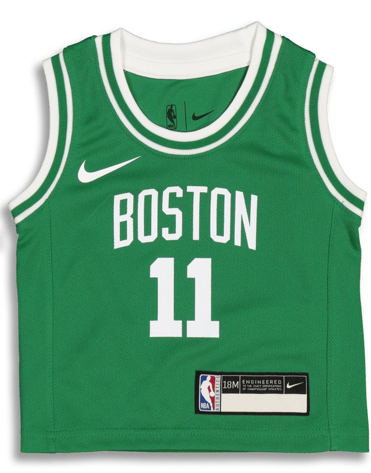 official photos 6656b 09cd6 Nike Infant Boston Celtics Kyrie Irving #11 Icon Replica NBA Jersey Green