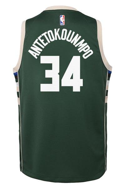2c13307de98 Nike Kids Milwaukee Bucks Giannis Antetokounmpo  34 Icon Swingman NBA Jersey  Green