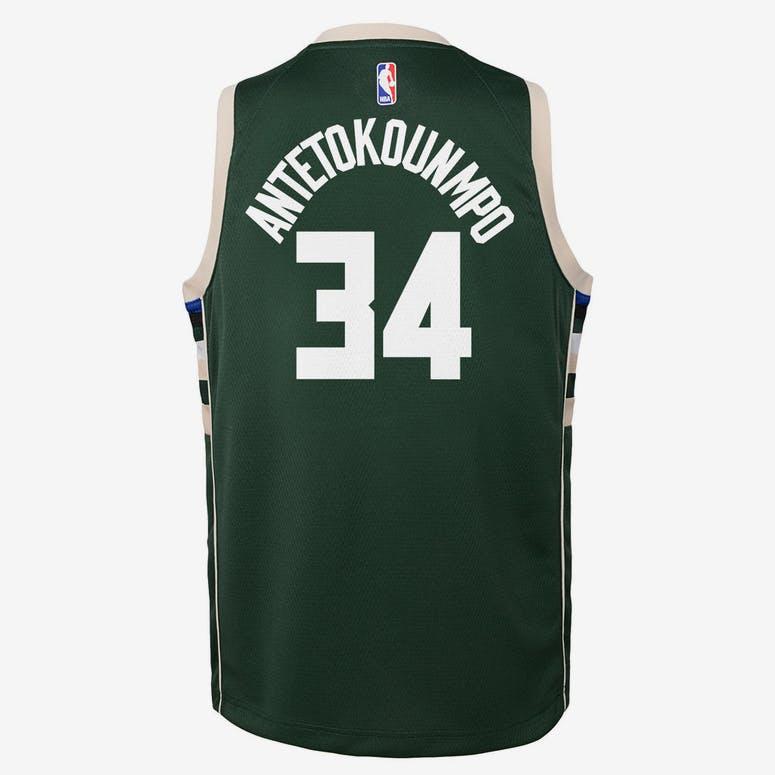 5699a444a Nike Kids Milwaukee Bucks Giannis Antetokounmpo  34 Icon Swingman NBA –  Culture Kings