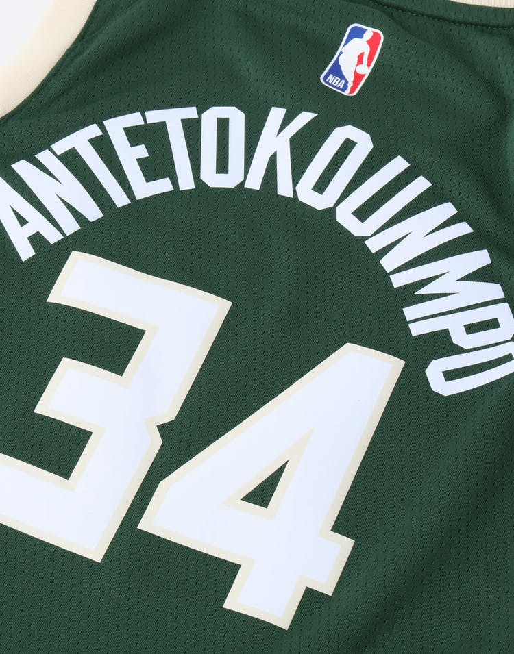finest selection b473b c486a Nike Kids Milwaukee Bucks Giannis Antetokounmpo #34 Icon Swingman NBA  Jersey Green