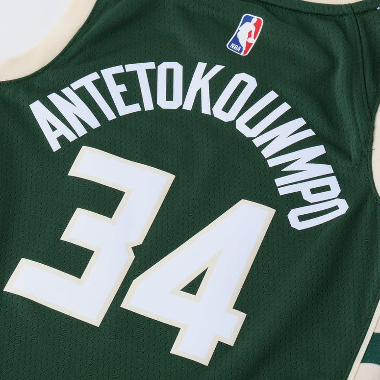 0d2ef193131 Nike Kids Milwaukee Bucks Giannis Antetokounmpo  34 Icon Swingman NBA Jersey  Green