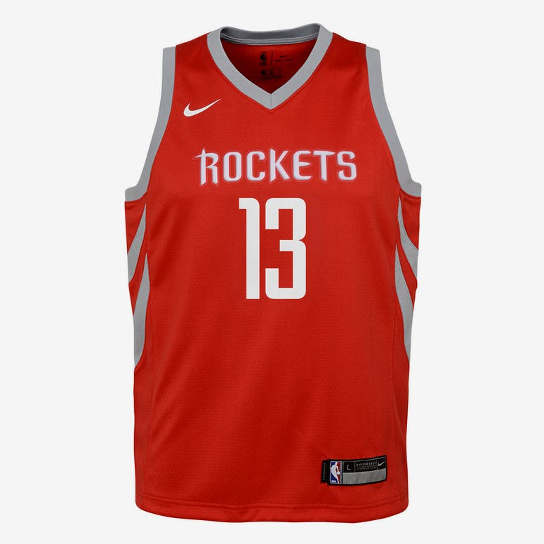 31bd4f7e2 Nike Kids Houston Rockets James Harden  13 Icon Swingman NBA Jersey Re –  Culture Kings