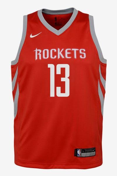 78eadf87e Nike Kids Houston Rockets James Harden  13 Icon Swingman NBA Jersey Red