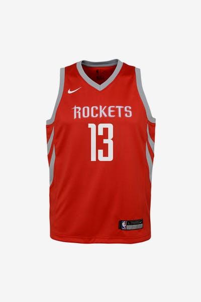 7d2fc0586 Nike Kids Houston Rockets James Harden  13 Icon Swingman NBA Jersey Red