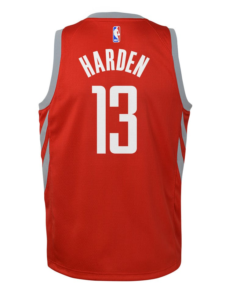 big sale e0b4f 57463 Nike Kids Houston Rockets James Harden #13 Icon Swingman NBA Jersey Red