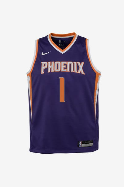 d4f28f9f8 Nike Kids Phoenix Suns Devin Booker  1 Statement Swingman NBA Jersey Purple