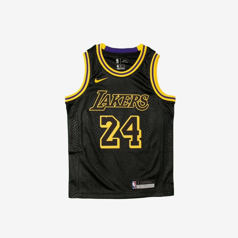 new style 03e5f aedb8 Kobe Bryant #24 Nike City Edition Youth Swingman Jersey Black