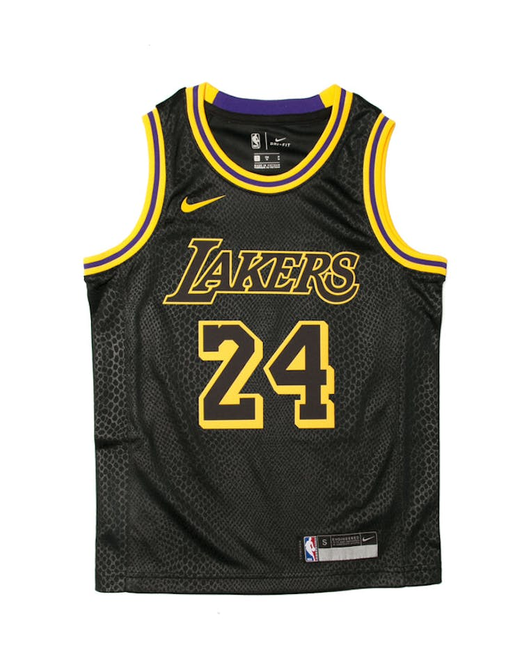 908f4f03bb2 Kobe Bryant #24 Nike City Edition Youth Swingman Jersey Black – Culture  Kings
