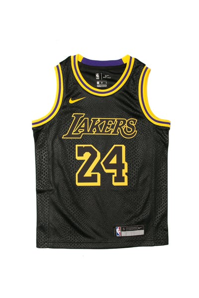 Kobe Bryant #24 Nike City Edition Youth Swingman Jersey Black