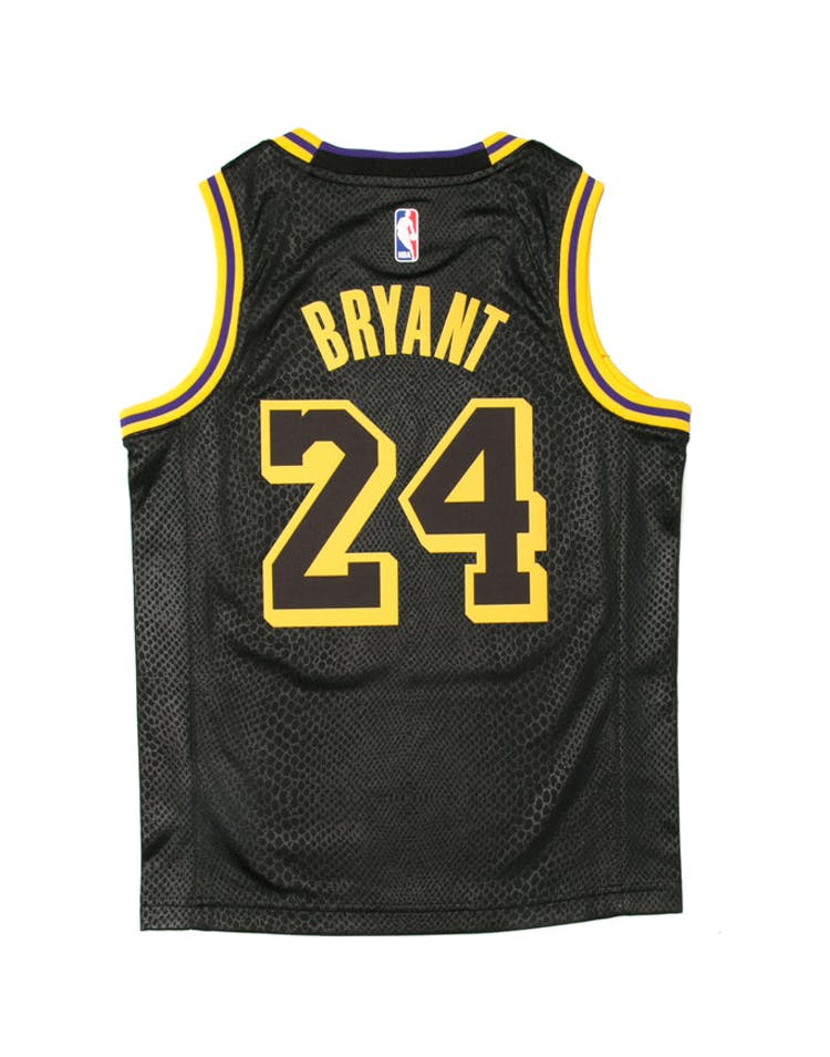 2a813414eba Kobe Bryant #24 Nike City Edition Youth Swingman Jersey Black – Culture  Kings