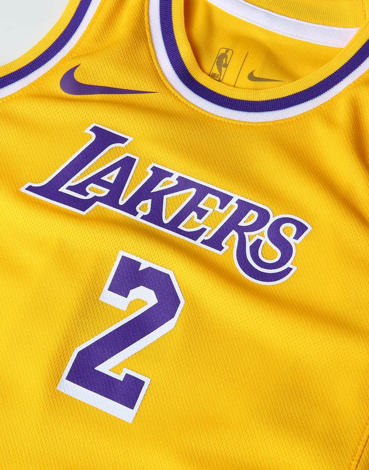 new style 7f2c9 6cbb1 Nike Toddler Los Angeles Lakers Lonzo Ball #2 Icon Replica NBA Jersey Yellow