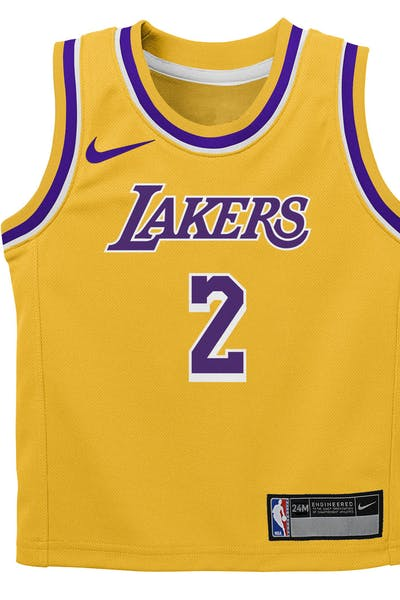 1113216e011 Nike Infant Los Angeles Lakers Lonzo Ball  2 Icon Replica NBA Jersey Yellow