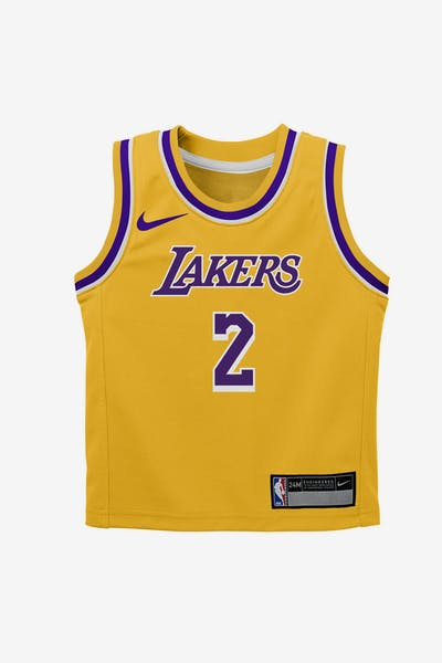Nike Infant Los Angeles Lakers Lonzo Ball  2 Icon Replica NBA Jersey Yellow 7a9b5b159