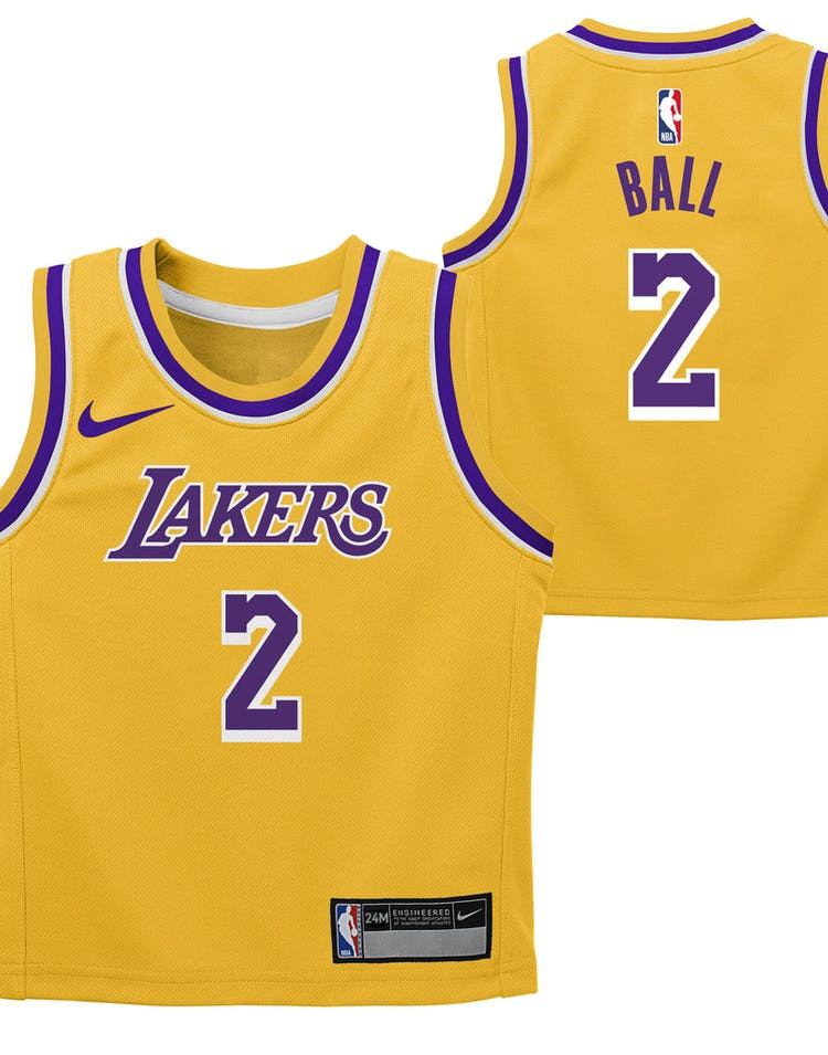 8d607c397e4 Nike Infant Los Angeles Lakers Lonzo Ball #2 Icon Replica NBA Jersey Y –  Culture Kings