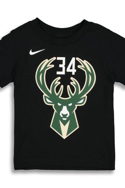 c0bc899e4bb Nike Toddler Milwaukee Bucks Giannis Antetokounmpo #34 Statement N&N Tee  Black