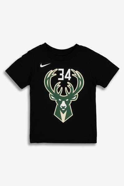 Nike Toddler Milwaukee Bucks Giannis Antetokounmpo  34 Statement N N Tee  Black 15e8f6d8c