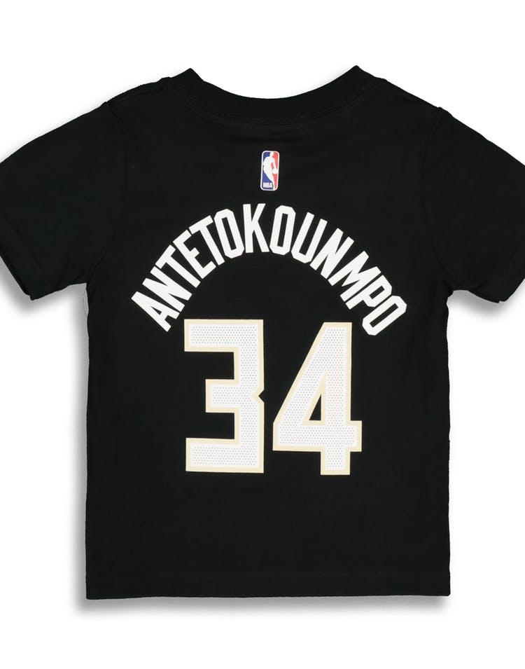 sports shoes a32d0 f10bb Nike Toddler Milwaukee Bucks Giannis Antetokounmpo #34 Statement N&N Tee  Black