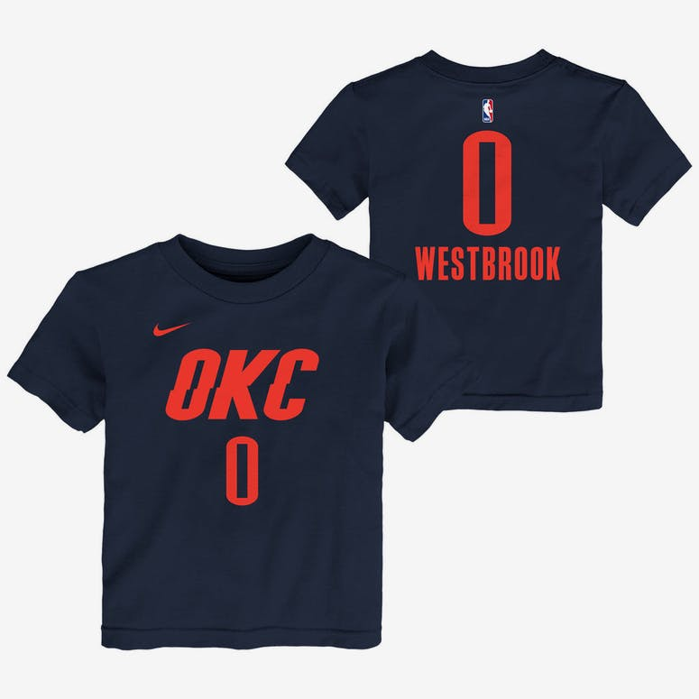 c343e2fd65a Nike Toddler Oklahoma City Thunder Russell Westbrook  0 Statement N N Tee  Navy