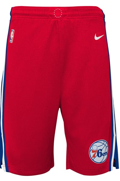 Nike Kids Philadelphia 76ers Statement Swingman Short Red