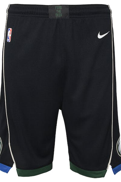 Nike Kids Milwaukee Bucks Statement Swingman Short Black