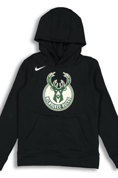 NIKE KIDS Milwaukee Bucks LOGO ESSENTIAL PULL OVER HOOD Black